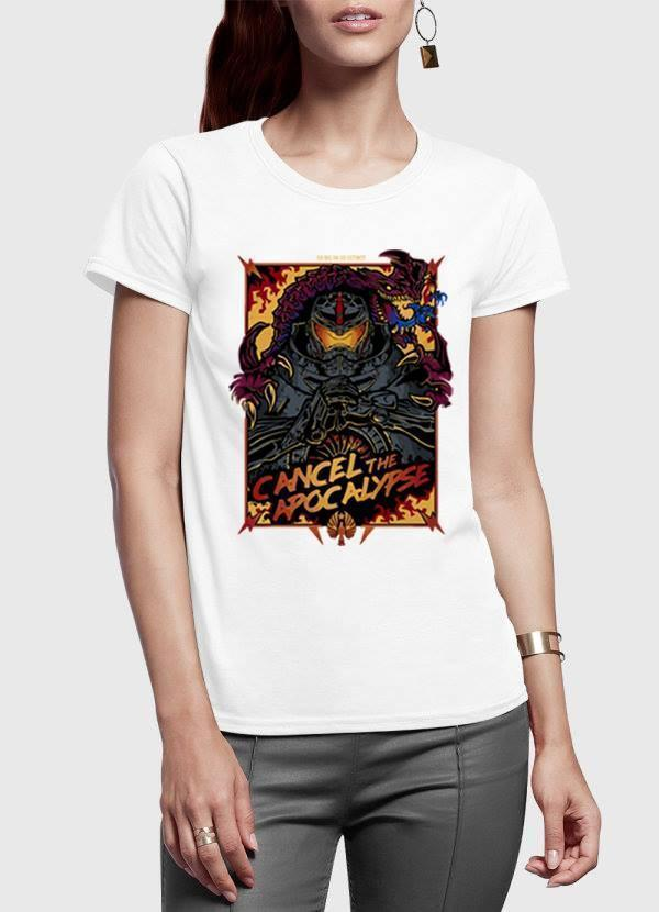 M Nidal Khan Women T-Shirt SMALL / White Cancel the Apocalypse Half Sleeves Women T-shirt