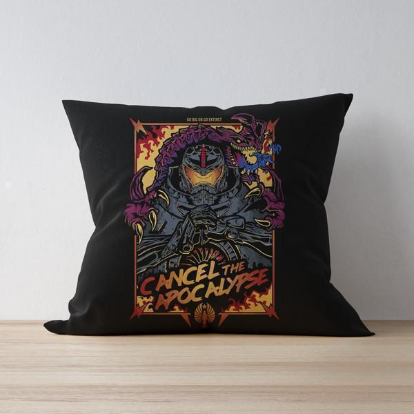 "M Nidal Khan Cushion 16""x16"" Cancel the Apocalypse Pillow/Cushion"