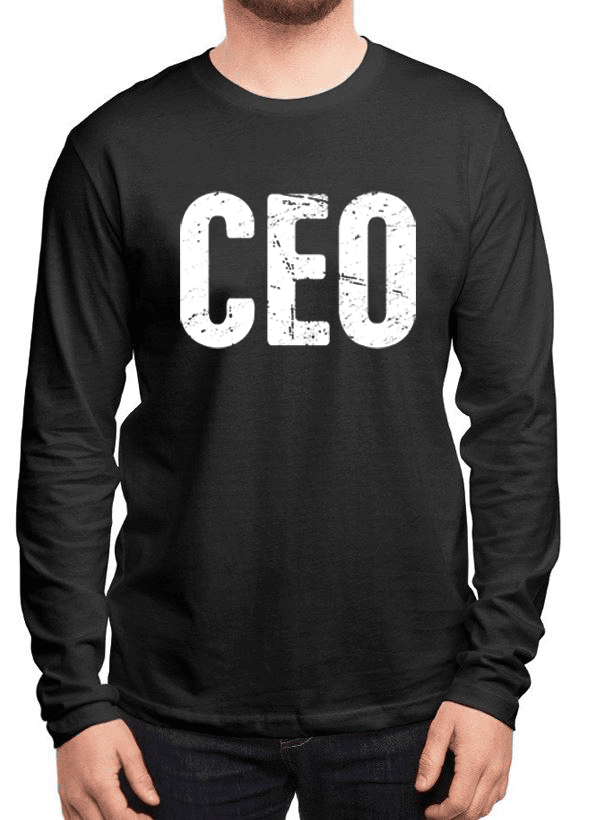 Virgin Teez T-shirt SMALL / Black CEO Full Sleeves T-shirt