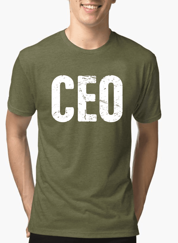 Virgin Teez T-shirt SMALL / Green CEO Half Sleeves Melange T-shirt