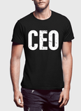 Virgin Teez T-shirt SMALL / Black CEO Half Sleeves T-shirt