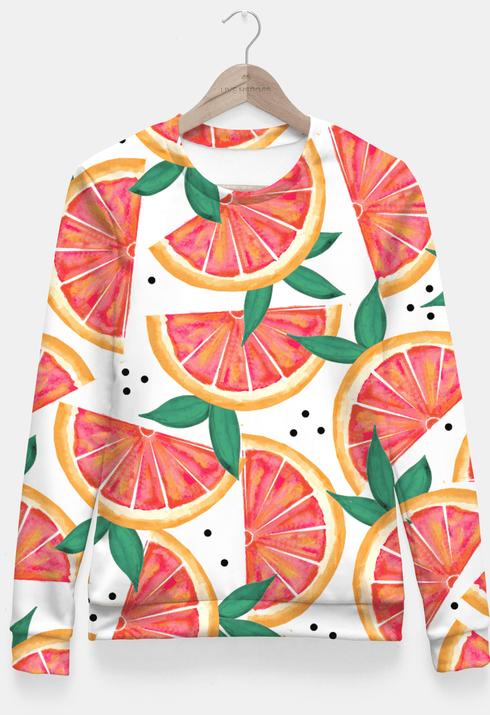 Sadaf Hamid Sweat Shirt Small Citrus Surprise Fitted Waist Sweater