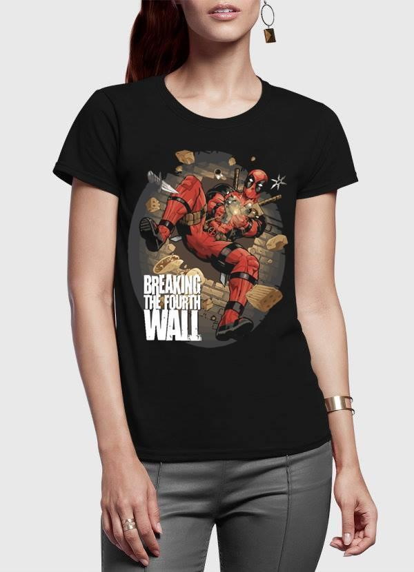 M Nidal Khan Women T-Shirt SMALL Deadpool Spider Half Sleeves Women T-shirt