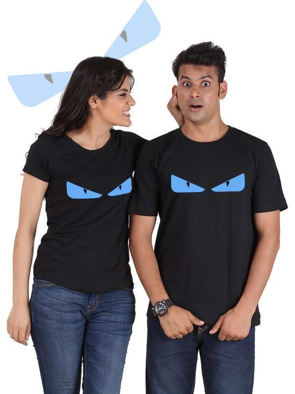 HUM TUM T-SHIRT Small / Small Devil Eyes Couple T-Shirts