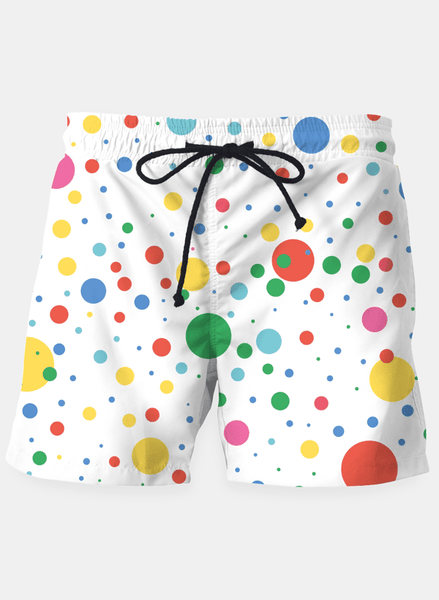 "Ayaz Ahmed Shorts SMALL (28""-18"") Dots Pattern 4 Shorts"