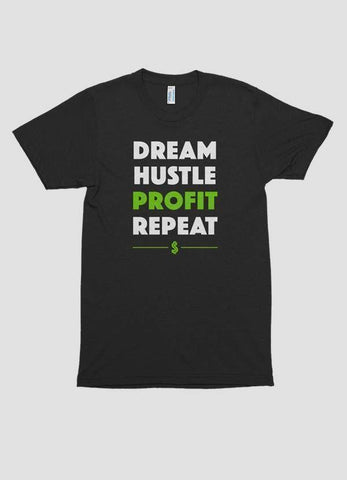 HAREF ART T-SHIRT Small DREAM HUSTLE PROFIT Printed T-shirt