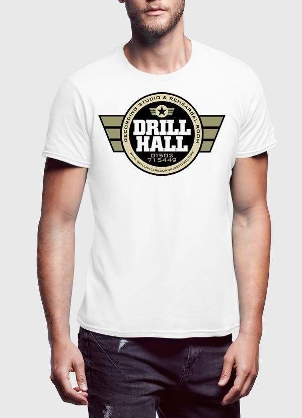 ARMY T-SHIRT Small / White DRILL HILL Printed Tshirt