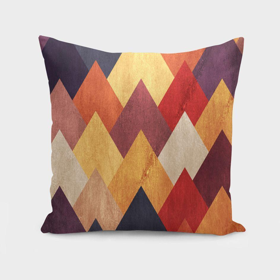 "The Pillow pillows 16"" x 16"" Eccentric Mountains Cushion/Pillow"