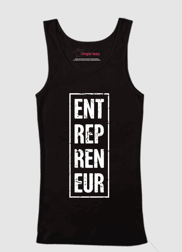 Virgin Teez Tank Top SMALL / Black Entrepreneur Vertical Tank Top