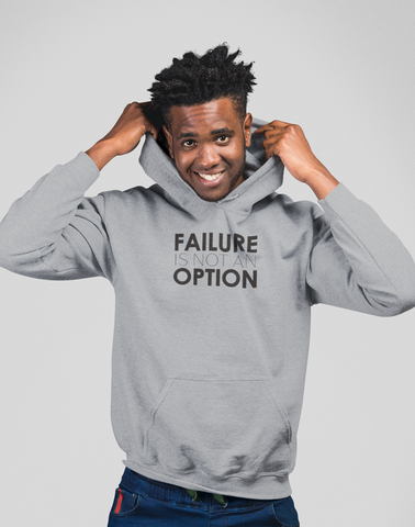 Virgin Teez Pull Over Hoodie Failure is not an option Hoodie
