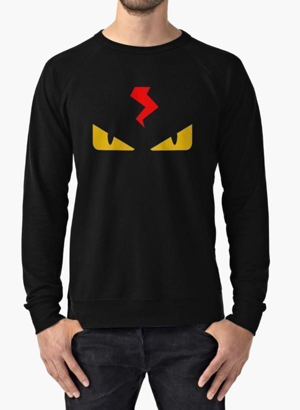 Virgin Teez Sweat Shirt Fendi monster eye black Sweat Shirt