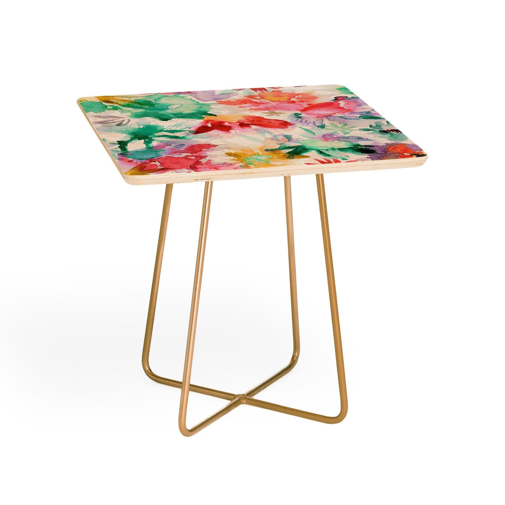ZAHID Side Table FLORAL MEMORIES SIDE TABLE