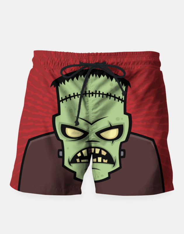 "Maria Shorts SMALL (28""-18"") / us Frankenstein Monster Shorts"