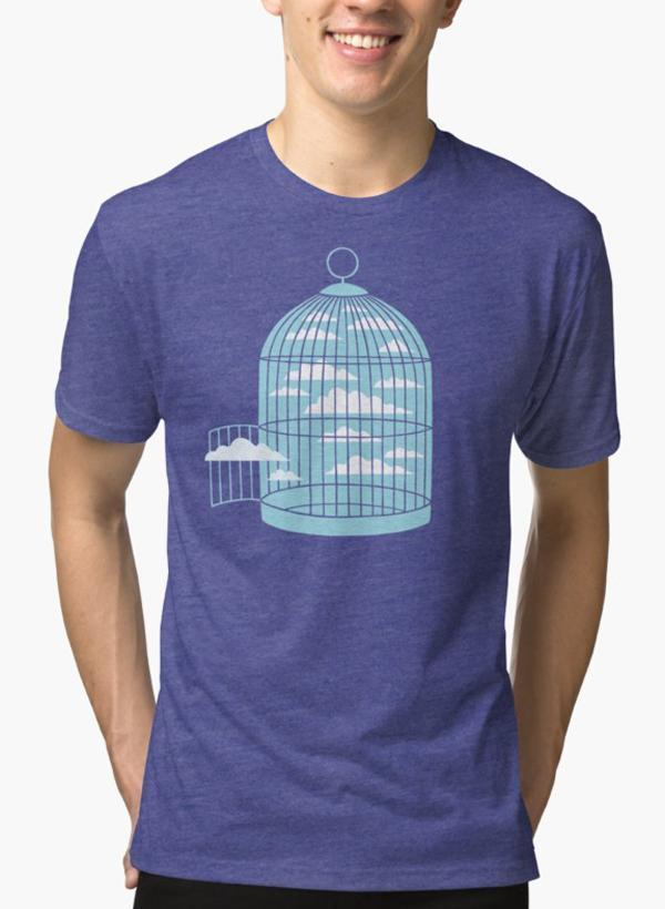 Ali Naqvi T-SHIRT Free as a Bird Purple T-shirt