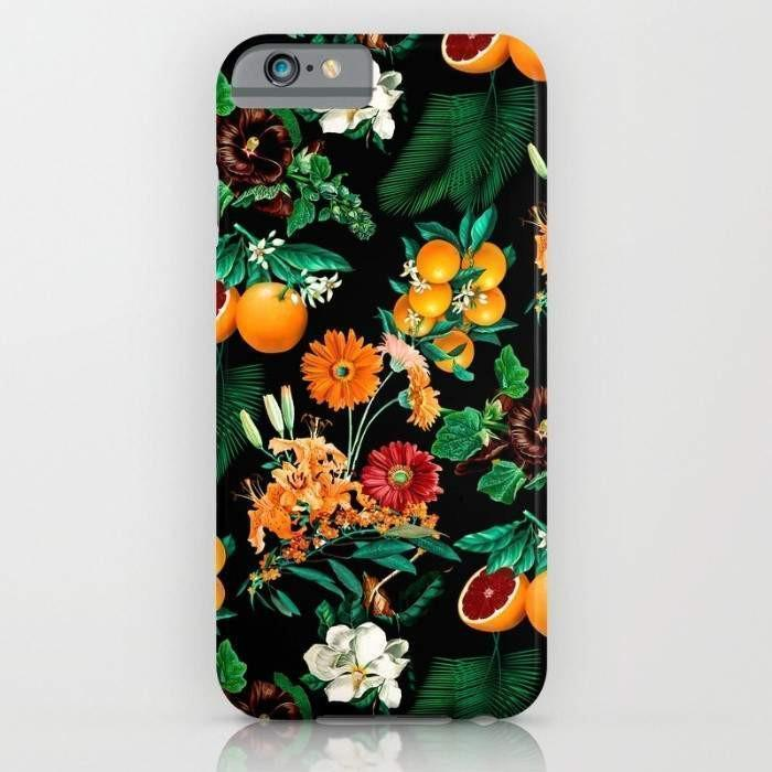 Threadless Mobile Cover Fruit and Floral Pattern Mobile Cover