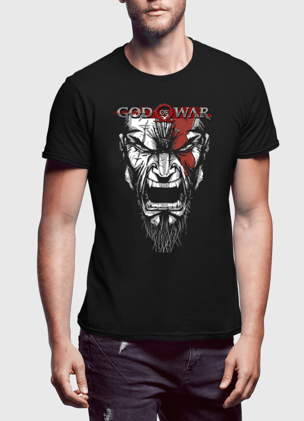 M Nidal Khan T-shirt SMALL / Black God Of War Half Sleeves T-shirt