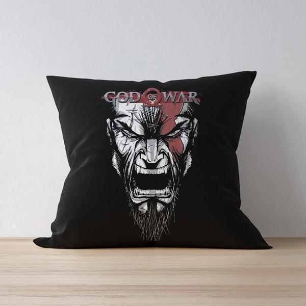 "M Nidal Khan Cushion 16""x16"" God Of War Pillow/Cushion"