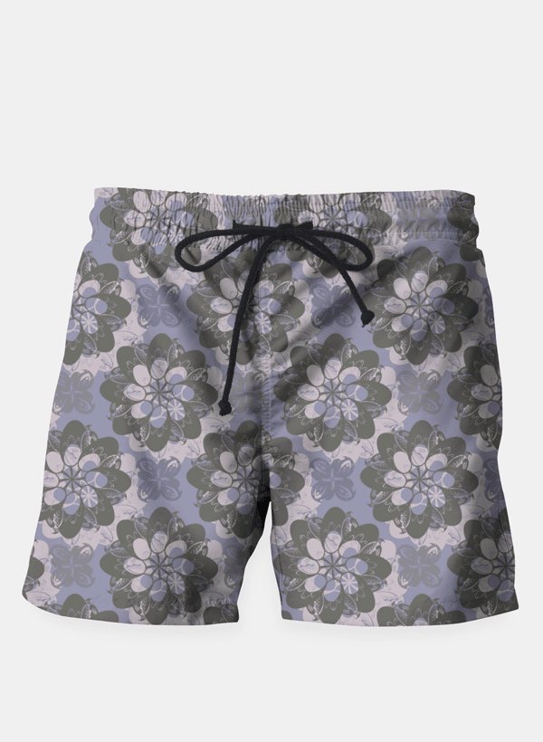 Ayaz Ahmed Shorts Gray Flower Shorts