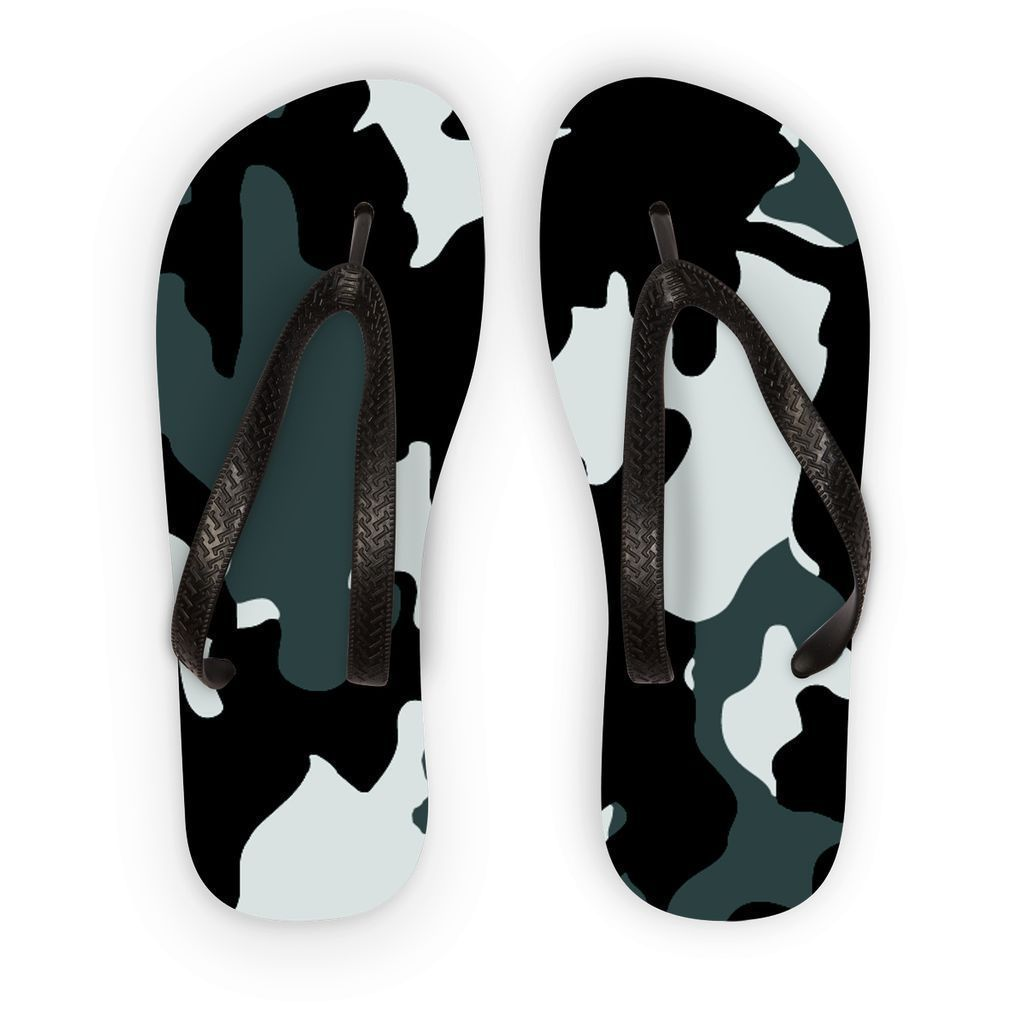 VIRGIN TEEZ Accessories S Grey Camo Flip Flops