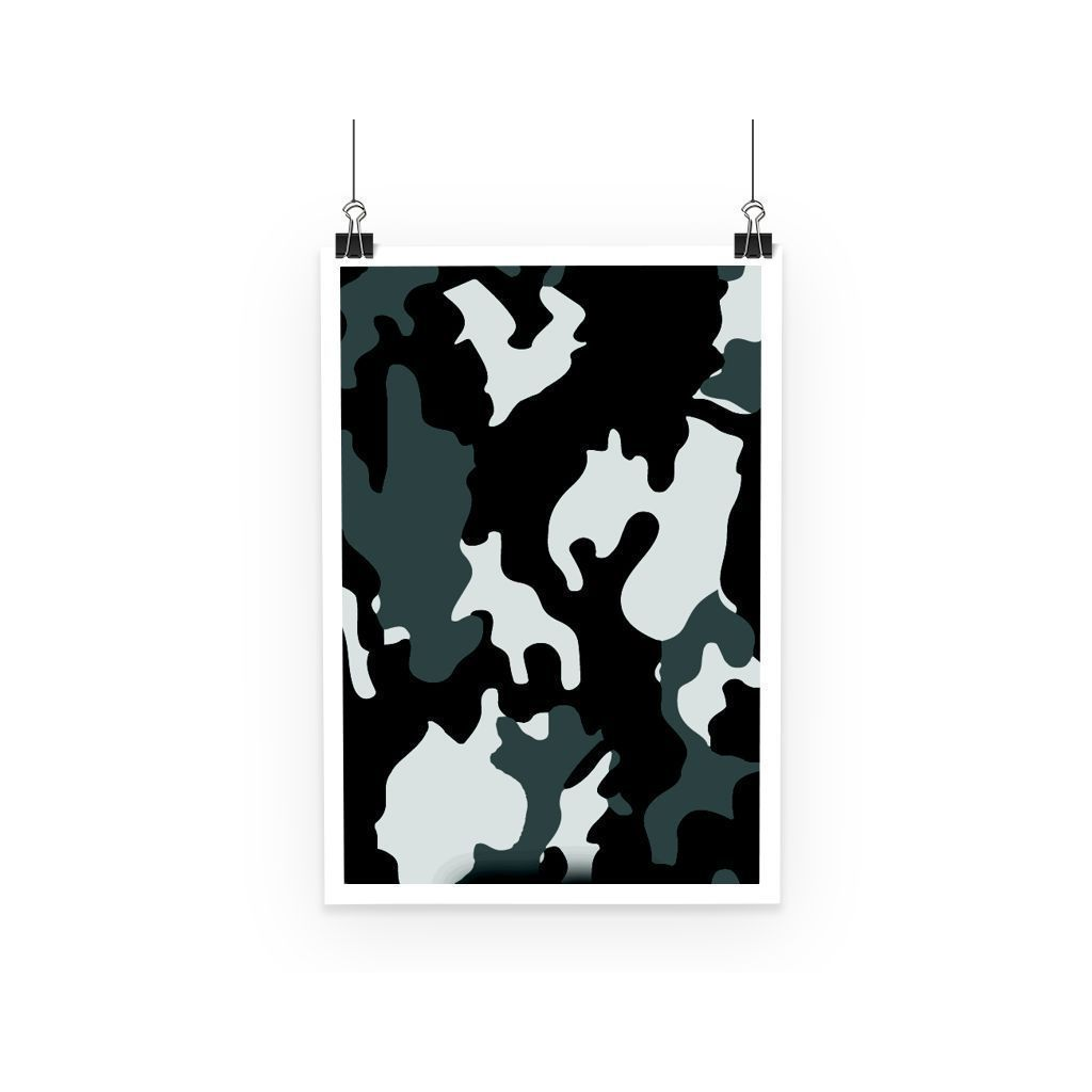 kite.ly Wall Decor A3 Grey Camo Poster