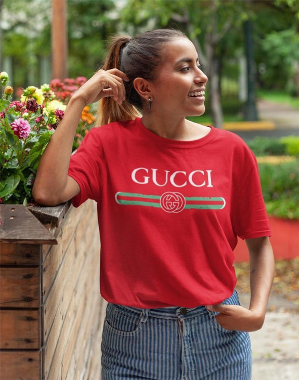 VIRGIN TEEZ Women T-shirt Gucci red Women's T-Shirt