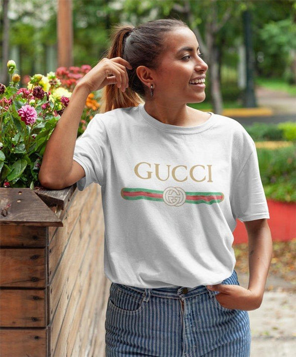 VIRGIN TEEZ Women T-shirt Gucci Shirt white Women's T-Shirt