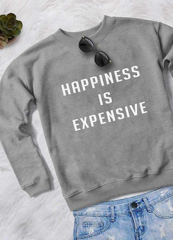 Sadaf Hamid Sweat Shirt HAPPINESS WOMEN SWEAT SHIRT