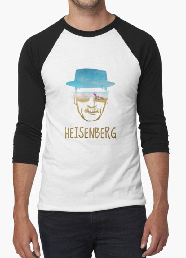 Tommy Nease Full Sleeves T-Shirts Heisenberg BLACK & WHITE FULL SLEEVES T-SHIRT