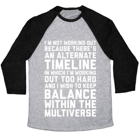 Virgin Teez  Baseball Tee Unisex Tri-Blend Baseball Tee / small / Athletic Gray / Black I DON'T WORK OUT UNISEX TRI-BLEND BASEBALL TEE
