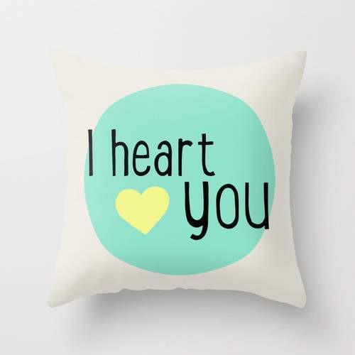 The Pillow pillows I heart you Pillow