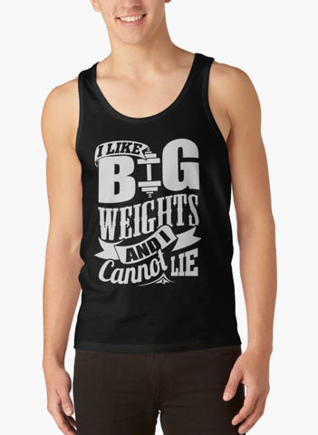 Ali Ahsan Tank Tops I Like Big Weights & I Cannot Lie Gym Fitness