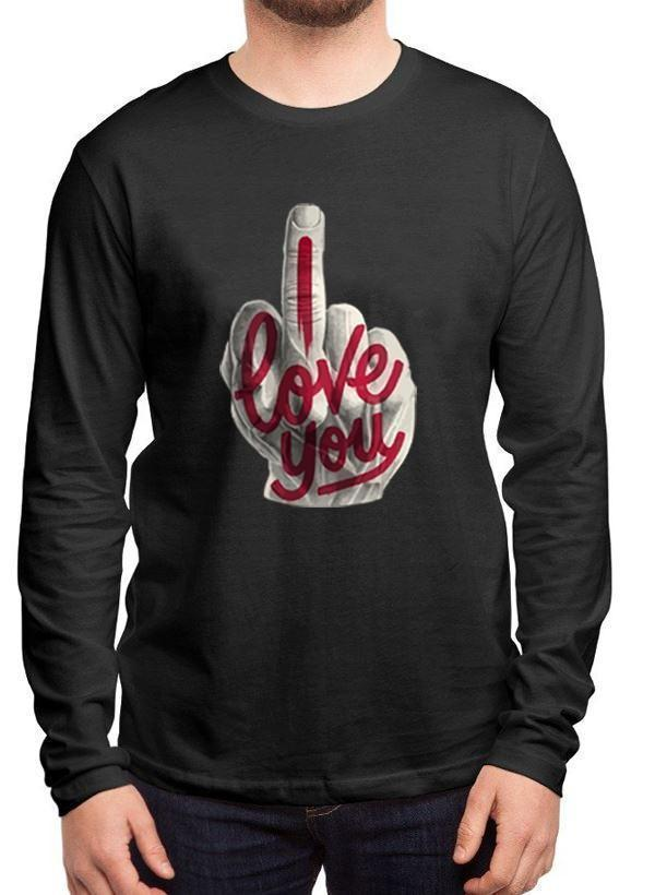 M Nidal Khan T-shirt SMALL / Black I Love You Full Sleeves T-shirt