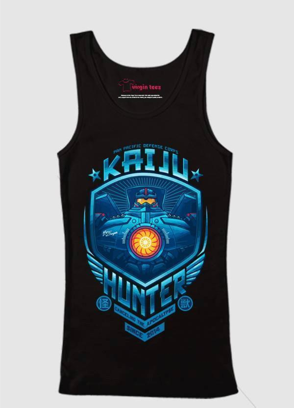 M Nidal Khan Tank Top SMALL / Black Kaiju Hunter Tank Top