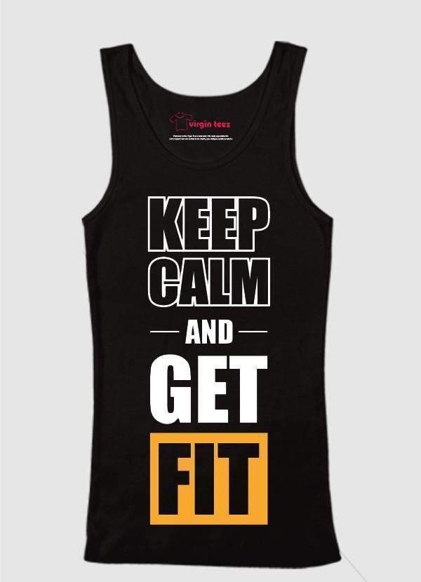 Ali Ahsan Tank Tops Keep Calm And Get Fit Tank Top