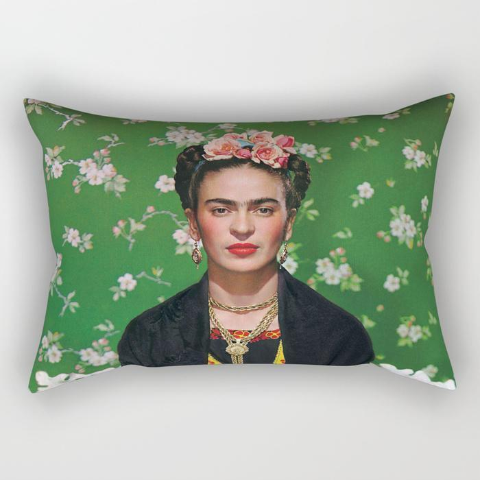 The Pillow pillows Lady Frida 2 Rectangle Pillow