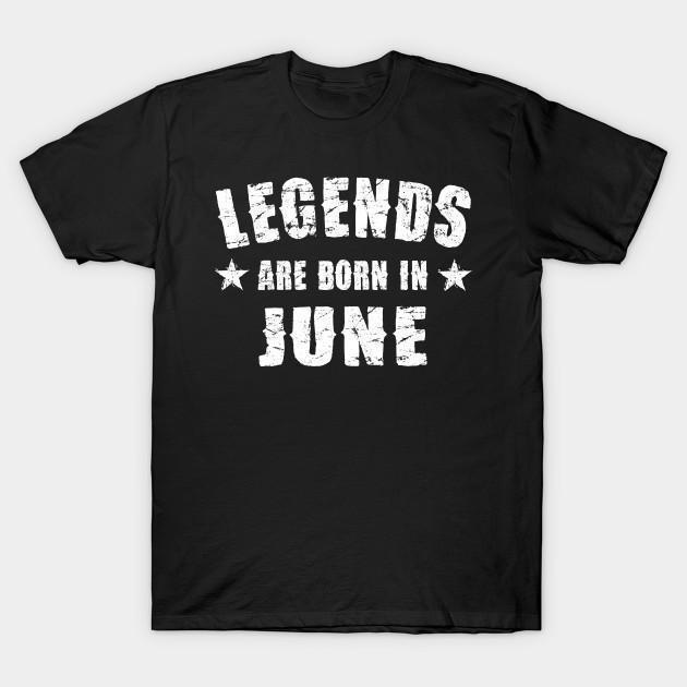 Virgin Teez T-shirt SMALL Legends are born in June Half Sleeves T-shirt