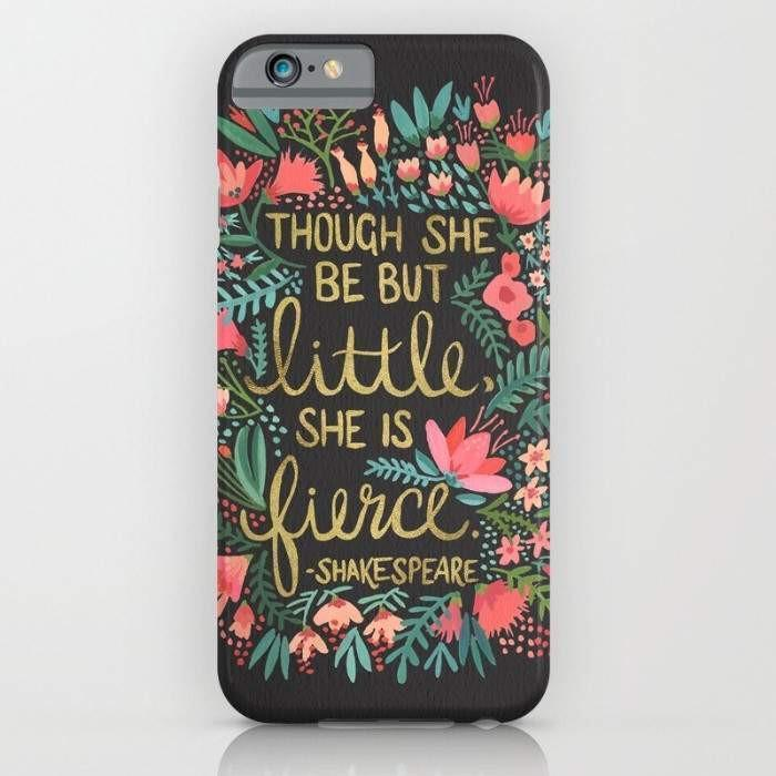 Threadless Mobile Cover Little & Fierce on Charcoal Mobile Cover