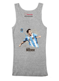 M Nidal Khan Tank Top SMALL / Gray Messi Tank Top
