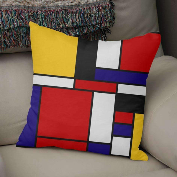 Saadana Shanmukam pillows Mondrian De Stijl Art Movement Pillow