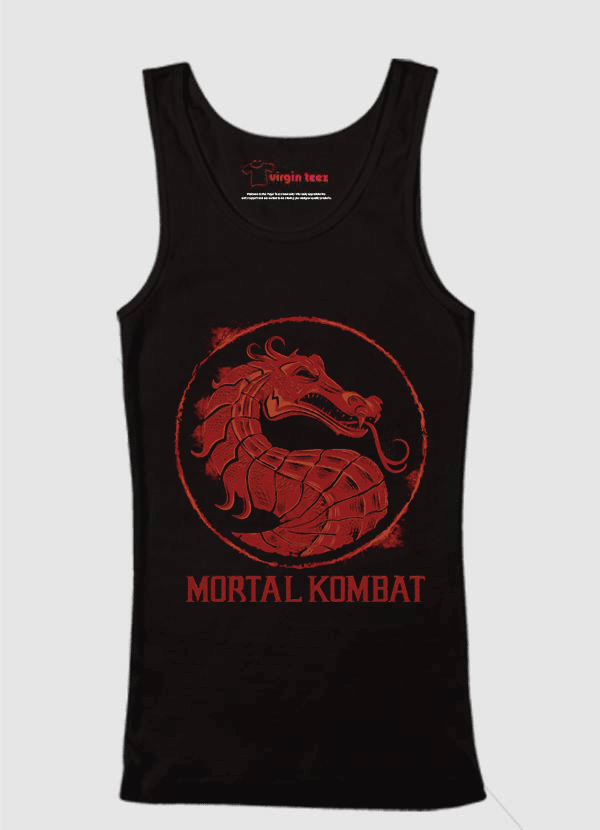 Virgin Teez Tank Top SMALL Mortal Kombat Logo Tank Top