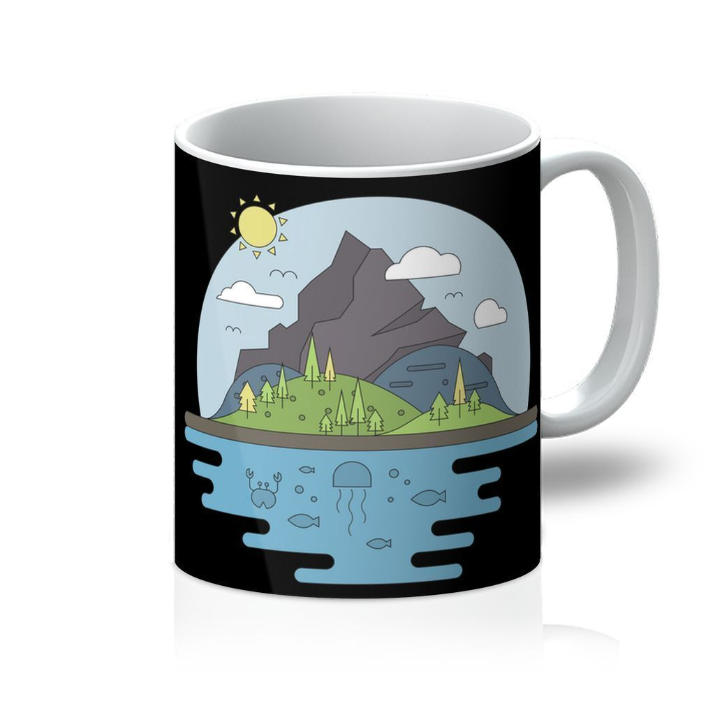 VIRGIN TEEZ Homeware 11oz Mountains World II Mug