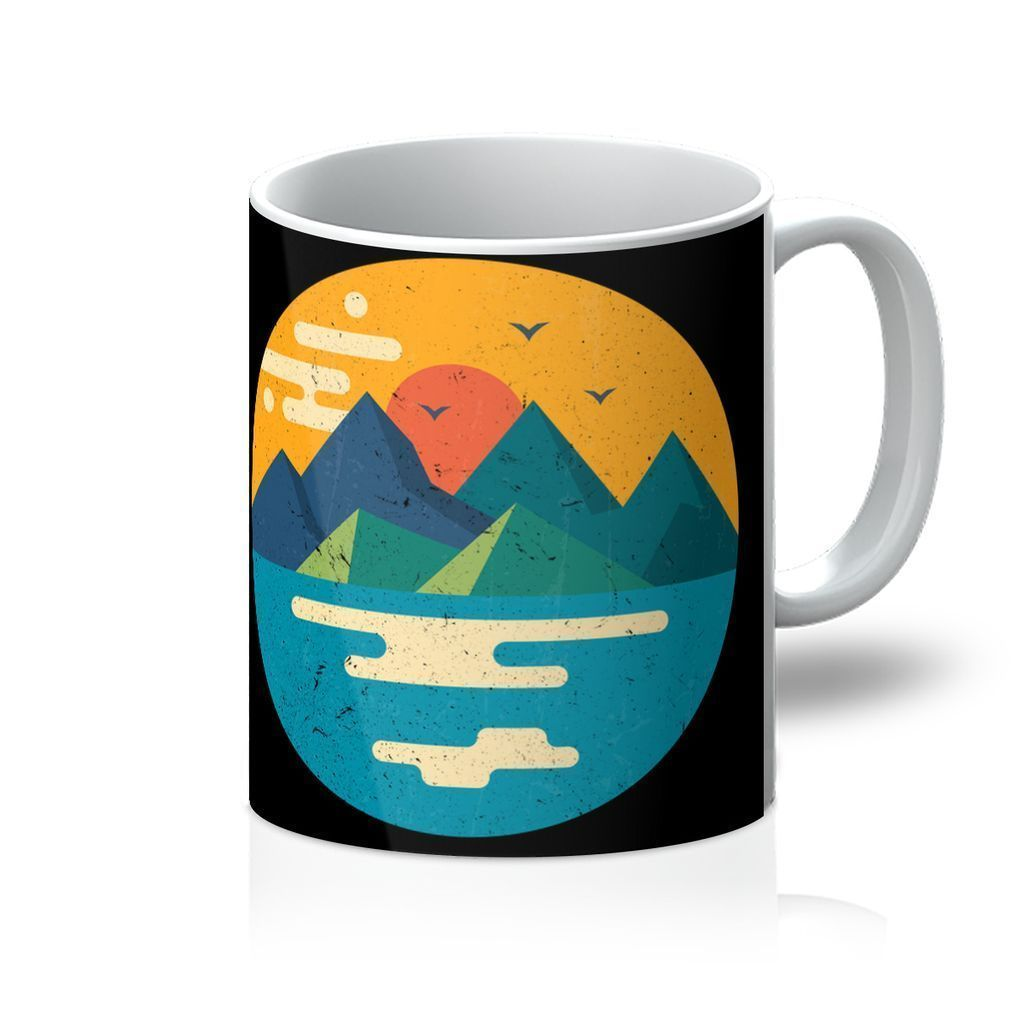 VIRGIN TEEZ Homeware 11oz Mountains Xx Mug