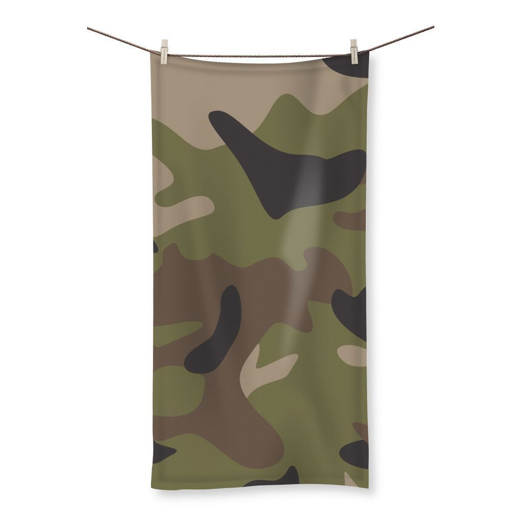 "kite.ly Homeware 19.7""x39.4"" Multi Camo Beach Towel"