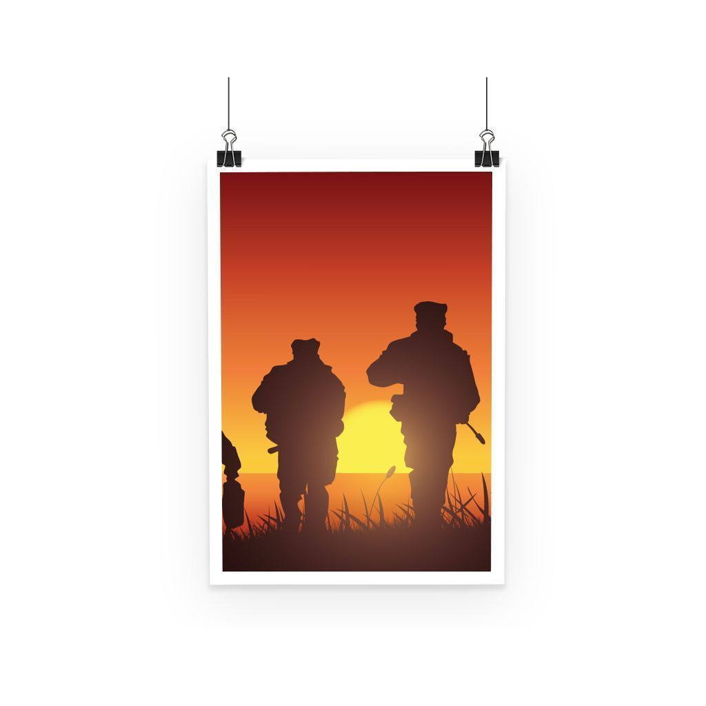 kite.ly Wall Decor A3 Navy Seal Training Silhouette Poster