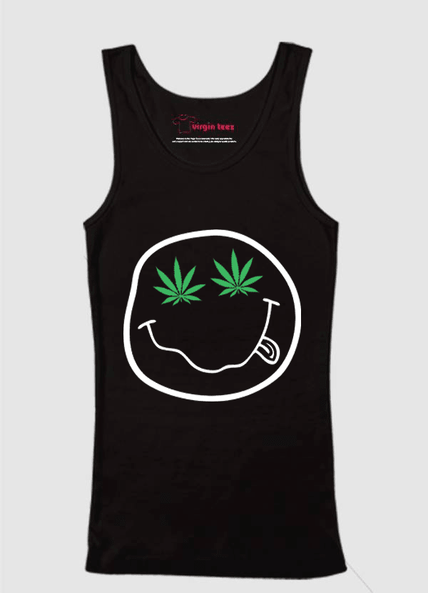 Virgin Teez Tank Top SMALL / Black Nirvana Smile Tank Top