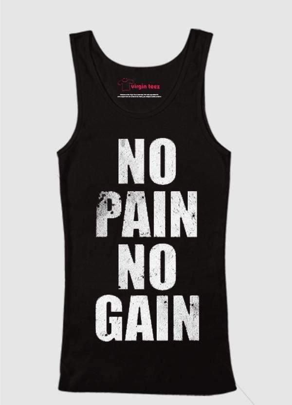 Ali Ahsan Tank Tops No Pain No Gain Tank Top