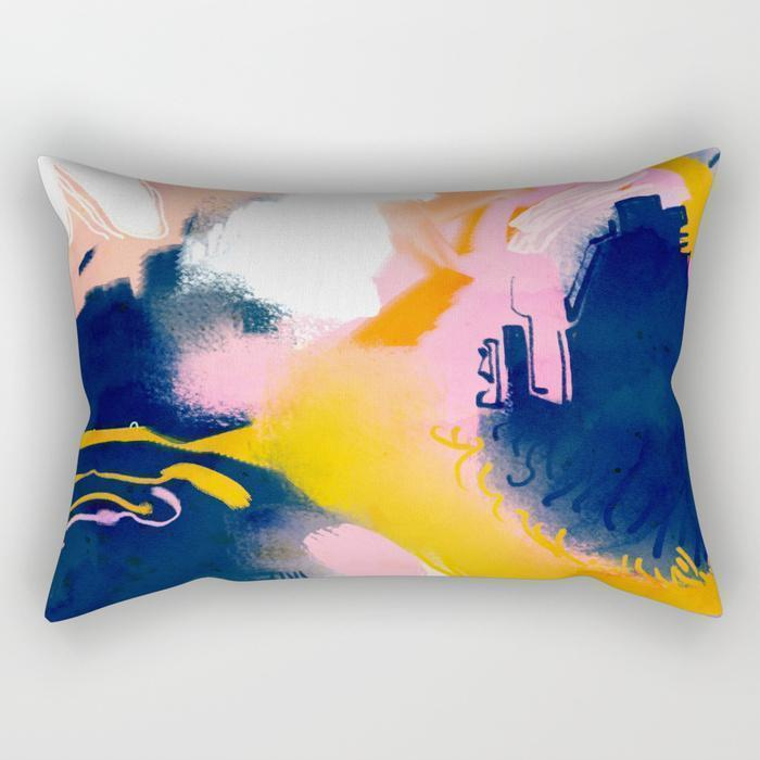 The Pillow pillows Paint Abstract Art Rectangle Pillow