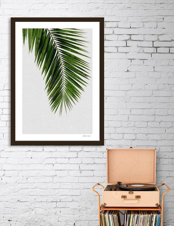 LUVD Framed Art Prints Palm Leaf I Frame