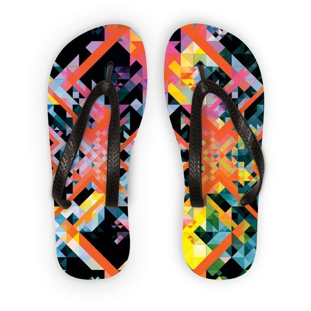 VIRGIN TEEZ Accessories S Pattern 1 Flip Flops