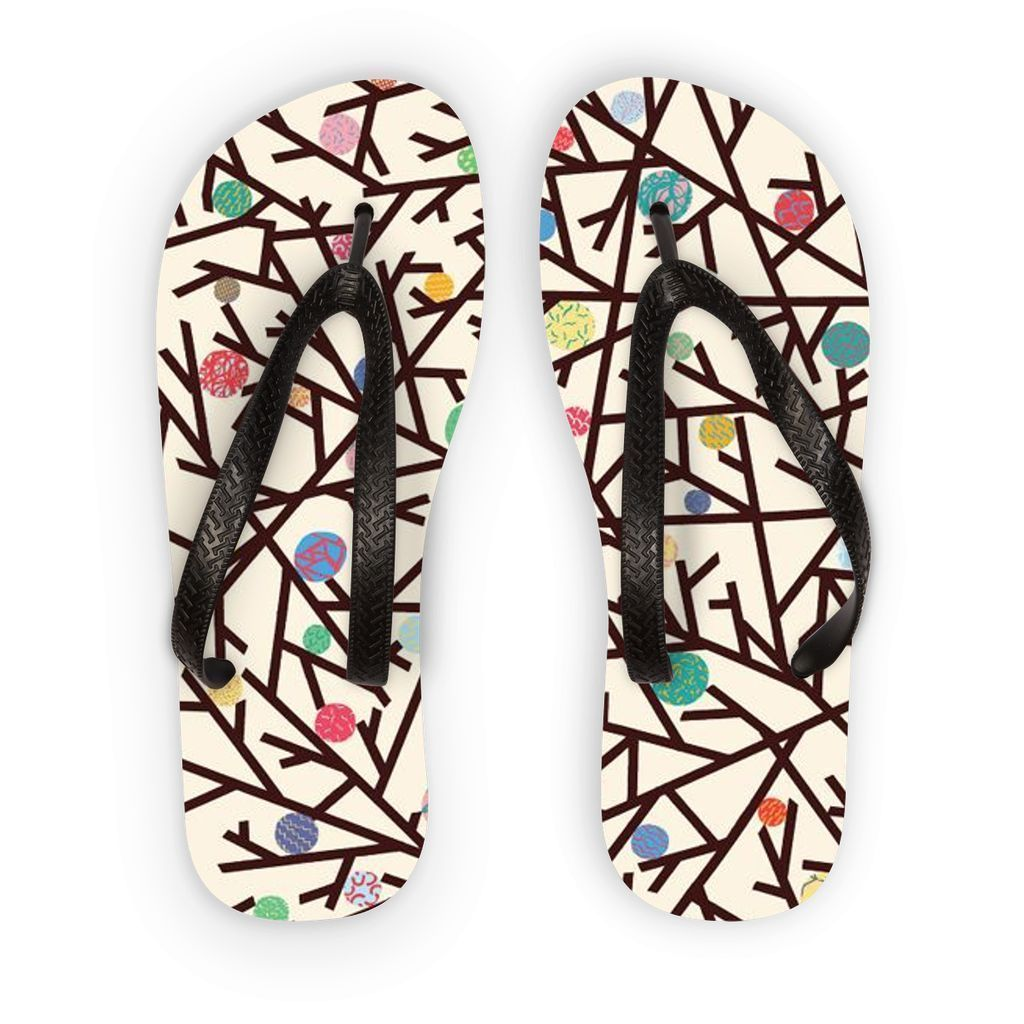 VIRGIN TEEZ Accessories S Pattern 10 Flip Flops